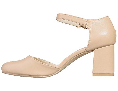 Greatonu - Strap alla caviglia donna Beige