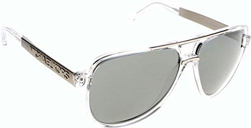 Michael Kors Unisex MK6025 Clementine II Sonnenbrille, Weiß (White/Grey 30946G), One size (Herstellergröße: 60)
