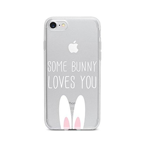 licaso Apple iPhone 7 Handyhülle Smartphone Apple Case aus TPU mit Some Bunny Loves You Print Motiv Slim Design Transparent Cover Schutz Hülle Protector Soft Aufdruck Lustig Funny Druck