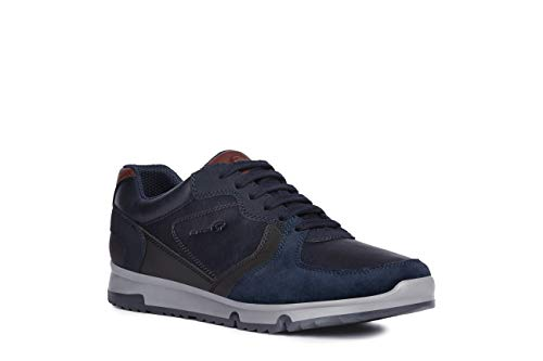 Geox Hombre mínimo Wilmer, de Caballero Zapatillas,Zapatos Deportivos,Zapatillas con Cordones,Transpirable,Calzado,Sneaker,Navy/DK...