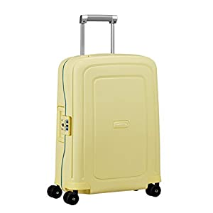 Samsonite S'Cure – Spinner Equipaje de Mano 55 Centimeters 34 Amarillo (Pastel Yellow Stripes)