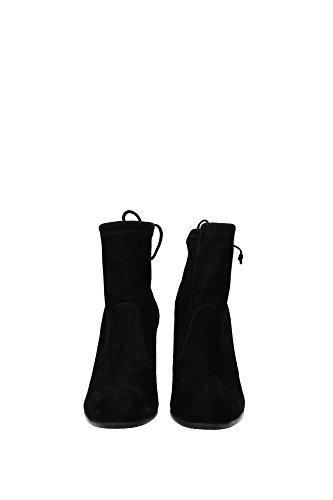 UL28855BLACKSUEDE Stuart Weitzman Chaussure mi montantes Femme Chamois Noir Noir