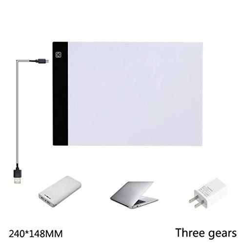 Malerei Board (Tomasa Ultra Portable LED Kopierstation Malerei Board Art Tools für künstlerische Animation, die Architektur-Kalligraphie zeichnet (240 x 148mm Dritter Gang dimmbar))