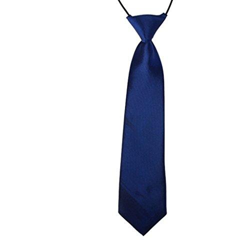 MultiWare Cravate Mariage Enfant Cravate Élastique Marine