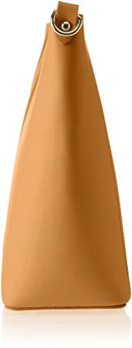 Chicca Borse 8611, Borsa a Spalla Donna, 36x28x12 cm (W x H x L) Marrone (Tan)
