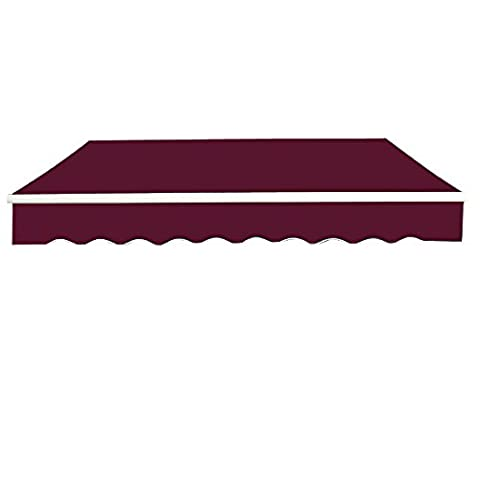 Greenbay 4x3m Garden Awning Replacement Fabric Top Cover Front Valance Wine Red