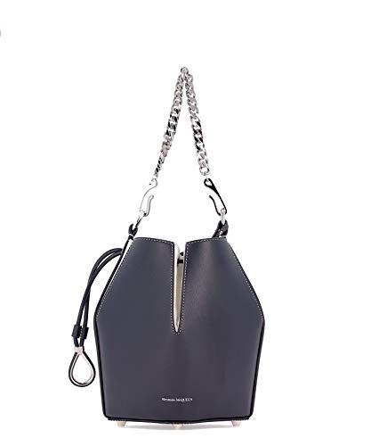 Alexander McQueen Luxury Fashion Donna 5541430SIQI4090I Blu Borsa A Spalla | Primavera Estate 19