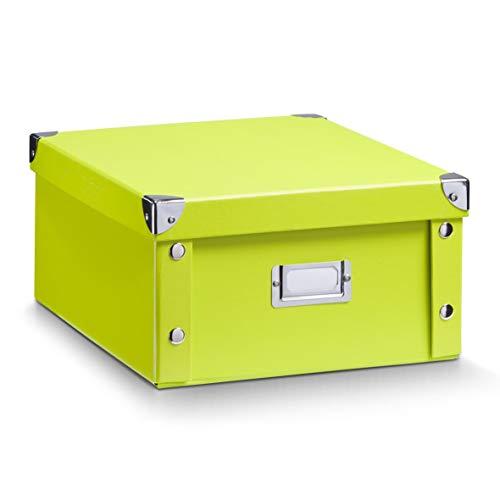 Zeller 17812 Aufbewahrungsbox, Pappe / 31 x 26 x 14, grün