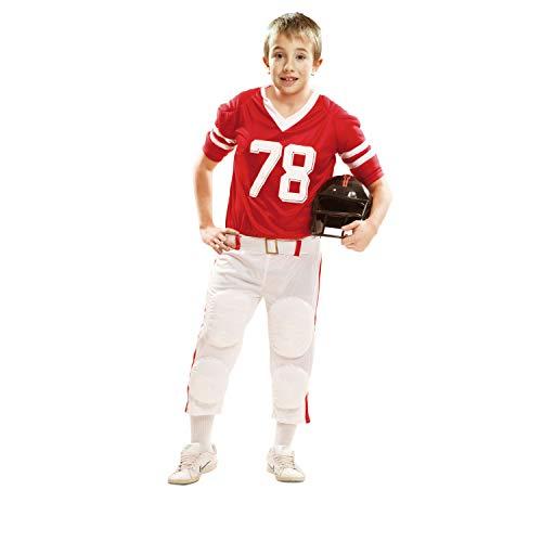 My Other Me Me - Disfraz de jugador de rugby para niño, 10-12 años, color rojo (Viving Costumes 202113)