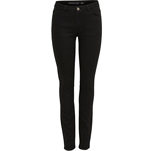 Only by JDY Damen Jeans Skinny Regular Stretch Hose Holly Schwarz