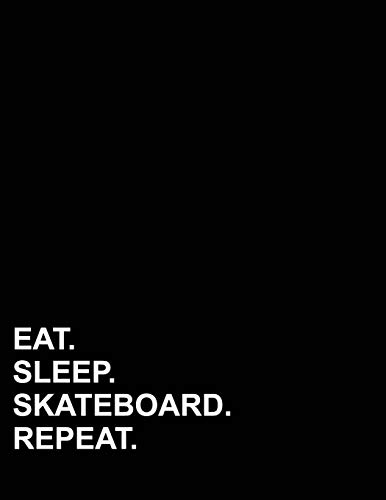 Eat Sleep Skateboard Repeat: Isometric Graph Paper Notebook: 1 Inch Equilateral Triangle -