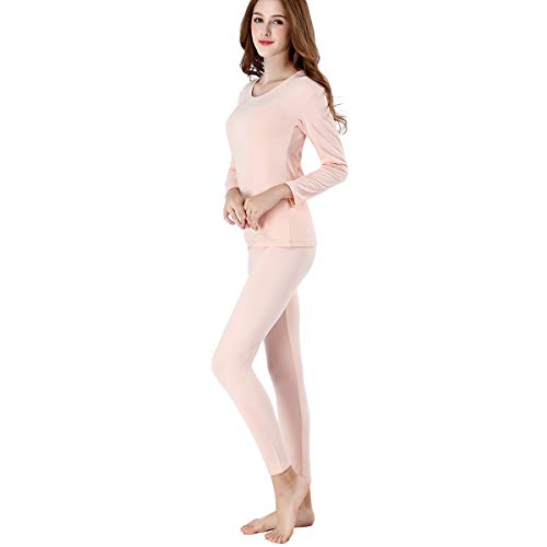 fc306dd857c146 FZmix Women Stretch Comfy Thin Base Layer Crew Neck Thermal Underwear Set  Long Johns Pyjamas