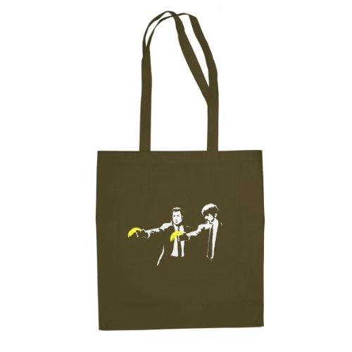 Vince & Jules Stencil - Sacchetto Di Stoffa / Borsa Oliva