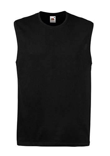Mens Rib Knit Tanks (Fruit Of The Loom 61222 Mens Sleeveless Mens Vest Tank Top XXL,Black)