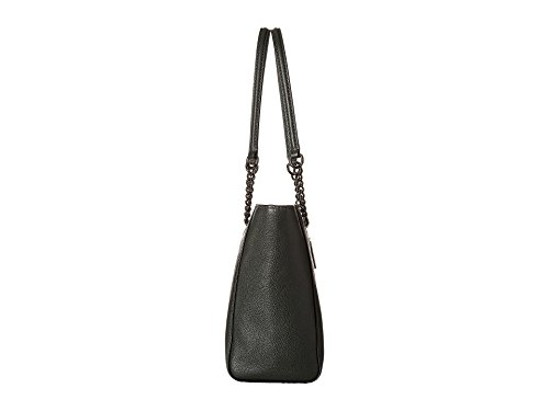 COACH Women's Pebbled Turnlock Chain Tote 27 Dk/Ivy One Size