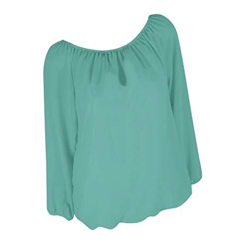 Frauen T-Shirt Kleid Tops,Damen Tank Kleider Sommer Herbst Frauit Mode Sexy Elegant-Lange Hülsen-Feste T-Shirts beiläufige Lose Oberseiten-Tunika-Bluse