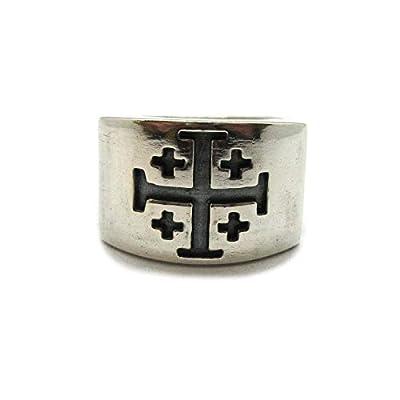 Bague en argent massif 925 Croix de jérusalem Empress R001999