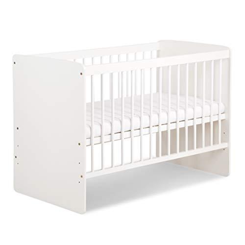 """Babybett""""Carola"""" 120x60 cm. weiß mit Matratze"""
