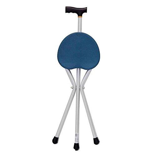 RENMEN Verstellbarer faltender gehender Stock-Stuhl-Schemel-Massage-Spazierstock mit Sitz-tragbarem Fischen-Rest-Schemel (Sitz-spazierstock)