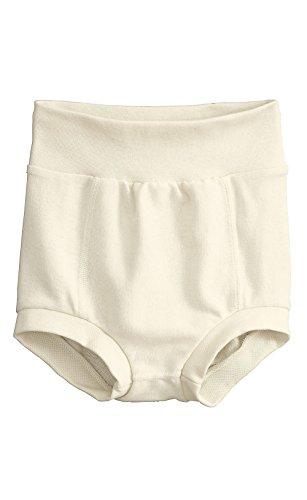 hessnatur Baby Mädchen und Jungen unisex Windelhose aus reiner Bio-Baumwolle natur 50/56