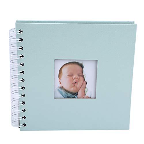 Yeucan DIY Fotoalbum Familienliebhaber Geburtstagsgeschenk Sticky Memory Scrapbook Handmade Album, blau