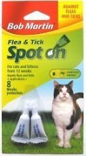 bob martin flea and tick spot on 2 applications for cats and kittens over 12 weeks of age from bob martin