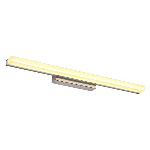 LED-Spiegelleuchte mit Spiegel, modernes Antibeschlag, wasserdicht, minimalistisch, wasserdicht, Wandleuchte, für Möbel mit Spiegel, für Make-up Warm Light-60cm