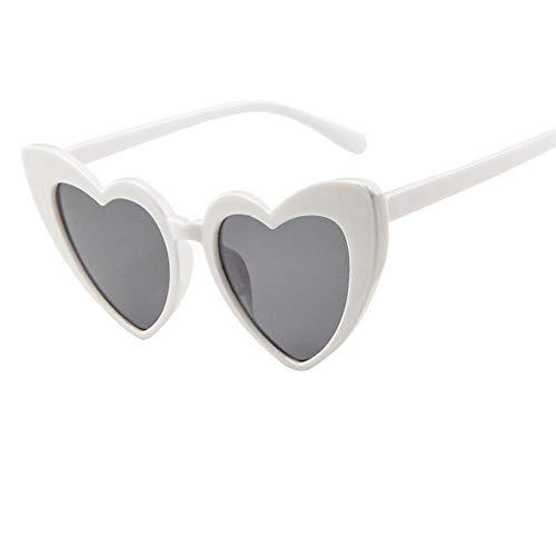 PinkLu GläSer Damen Retro Rahmenspiegel Mode Brillengestell Flache GläSer HerzföRmige Linse Schatten Sonnencreme Mode Temperament Sommer Neuer HeißEr Verkauf 8-Farbige Brille