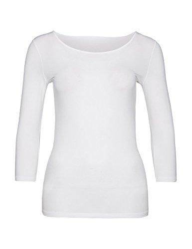 Marc Cain Essentials Marccaindament-Shirts+e4812j03, T-Shirt Femme Blanc (100)