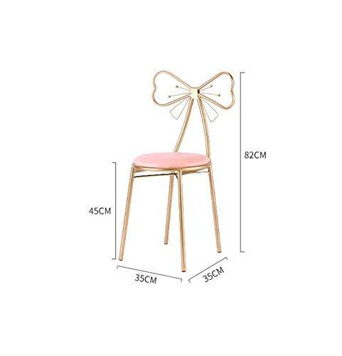 MU Massivholz Startseite kreative Stuhl, Mode Esszimmerstuhl Bar Stuhl Metall Stuhl, Chrom Hocker und Bogen Dekoration Rückenlehne,F -