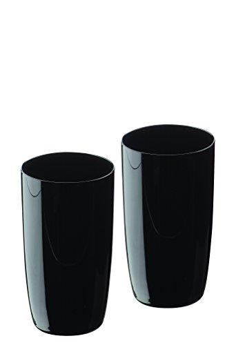 Artland Midnight  Juego de 2 vasos de tubo negros