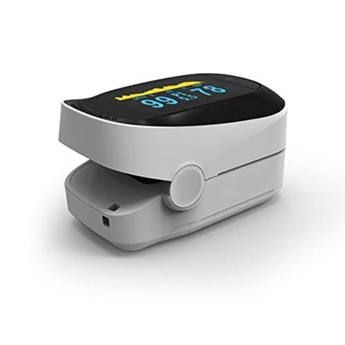 ZXG Fingerspitzen-Pulsoximeter Blutsauerstoff-SpO2-Messung OLED-Display Digitaler Test Sauerstoffsättigung Hohe Qualität,Silver