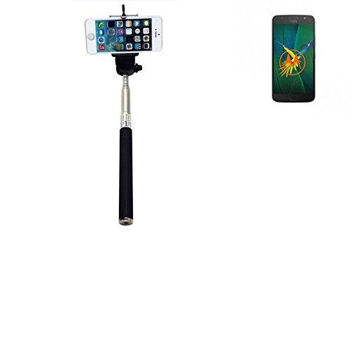 K-S-Trade® per Motorola Moto G5s Plus Bastone Selfie Selfiestick Asta Autoritratto telescopica Fotografico Monopiede Selfie Stick per Motorola Moto G5s Plus Nero