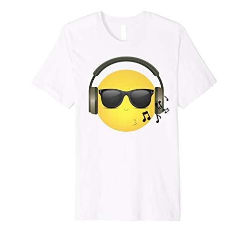 Whistling COOL Emoji mit Musik Kopfhörer und Sonnenbrille