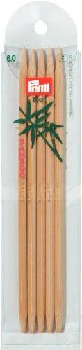 Prym Nadelspiel Strumpfstricknadeln Bambus Länge 20 cm Stärke 6,0 mm