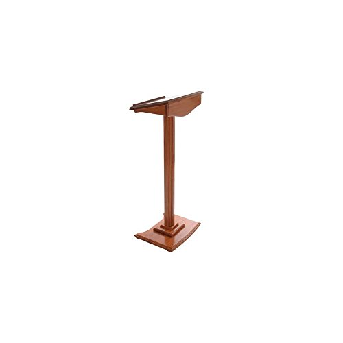 Displaysense Wooden Lectern, Mahogany Finish