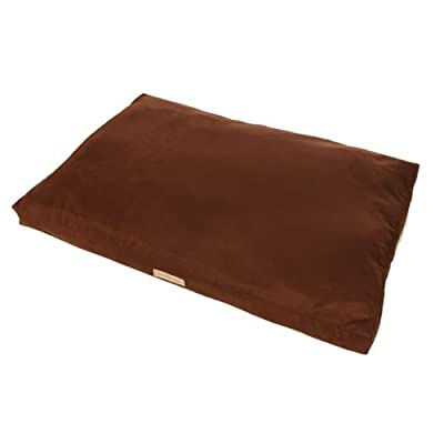 "Ruff & Barker® LARGE Dog Bean Bag - BROWN Faux Suede Bean Bags for Dogs - Large / Medium Dogs (41"")"