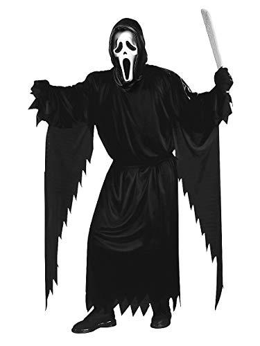 Scream Halloween Kostüm mit Umhang und Maske original Film Lizenz - schwarz - Plus Size XL/XXL