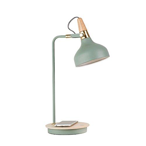 Européenne Style Led Lampe De Table De Chevet Lecture Lumière Charge Protection Oeil Chambre D'étude Chambre [Efficacité énergétique: A +] ( Couleur : Bleu )