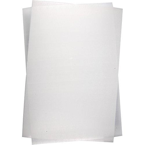 Schrumpffolienplatten, Blatt 20x30 cm, mattweiß, Mattweiß, 10Blatt