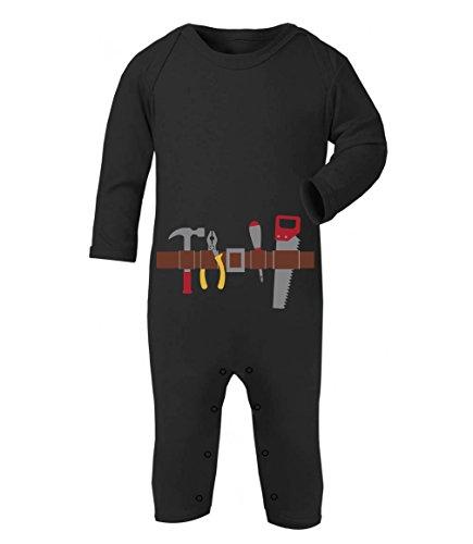 Handwerker Baby Karneval und Halloween Kostüm Baby Strampler Strampelanzug 3-6 Monate (60/66) ()