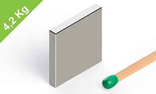 Neodym Quadermagnet, 20x20x3mm, vernickelt, Grade N45, starke Industriemagnete