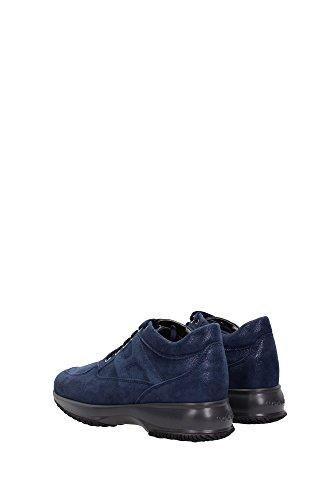 HXW00N00010DTXU800 Hogan Sneakers Femme Chamois Bleu Bleu