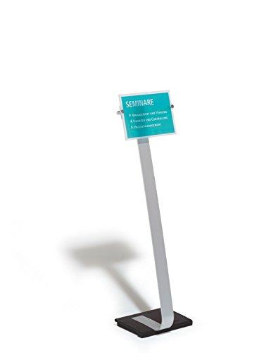 Durable 481823 Crystal Sign Stand A4 Präsentationsständer (für Hoch- und Querformat)