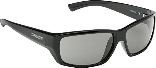 cressi apollo, occhiali da sole, prodotti in italia, nero/grigio, taglia unica