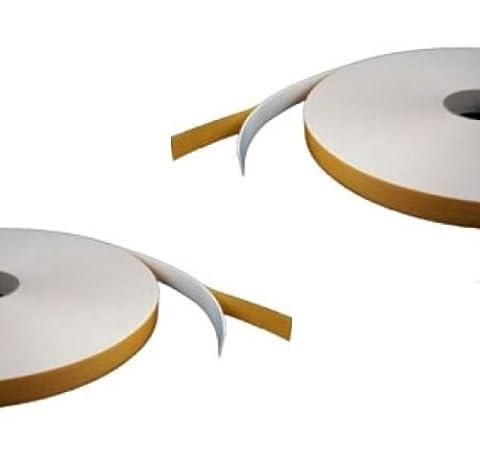 Ruban mousse double face–Blanc–5mm x 10mm x 12m–Sécurité/Verre/Craft Ruban adhésif
