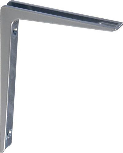IB-Style - 10x Regalträger ALU Druckguss | 5 Größen | 200x300 mm in silber| Regalhalter / Regalträger aus Aluminium für Wandregale mit Holz- Metall- und Kunststoffböden