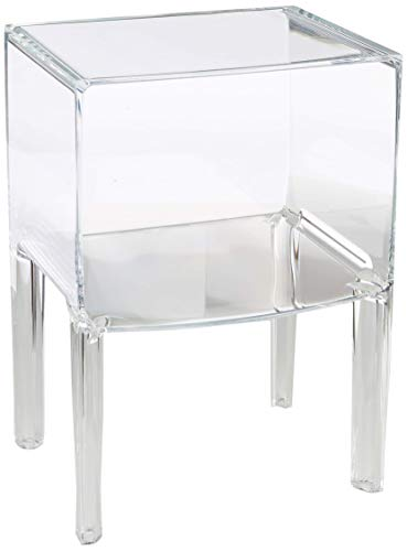 Kartell Small Ghost Buster Comodino, Transparente, 55 X 84 X 46 Cm