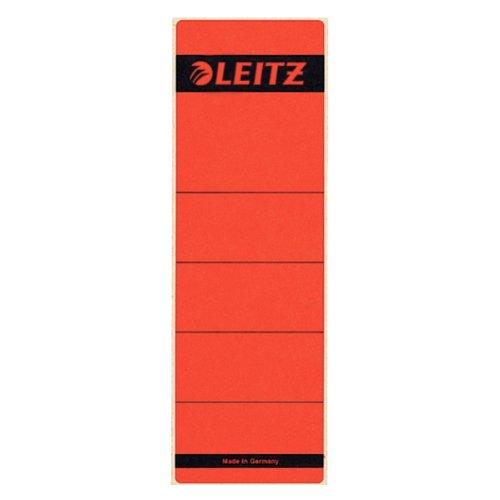 Preisvergleich Produktbild Leitz 16421025 Rückenschild selbstklebend, Papier, kurz, breit, 100 Stück, rot