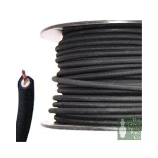 AES 7mm HT Ignition Lead Cable - Wire Core Cotton Braided Black